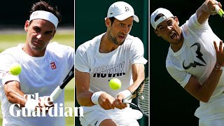 Nadal, Federer and Djokovic look ahead to Wimbledon