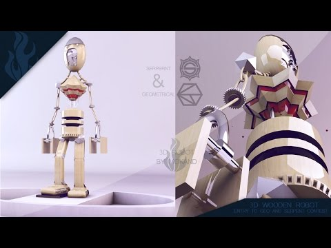 SpeedModeling: #SerpentAndGeo – Wooden Robot