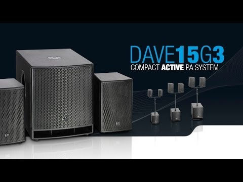 """LD Systems DAVE 15 G³ - Compact 15"""" powered PA System"""