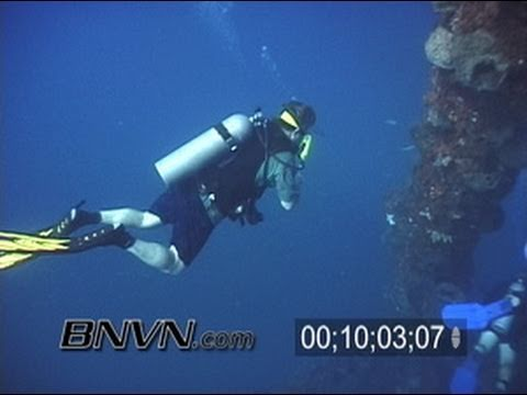 6/15/2003 Gulf Of Mexico, Dept Of Defense L-Tower Scuba Diving Video