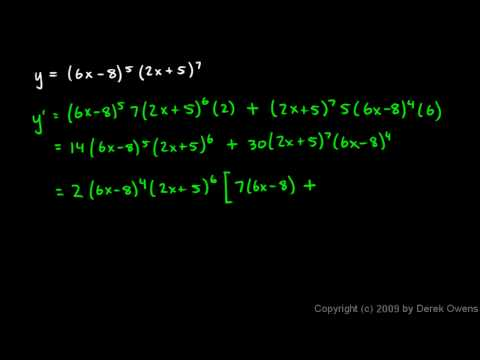 quotient rule formula. Calculus 3.07g - Product Rule
