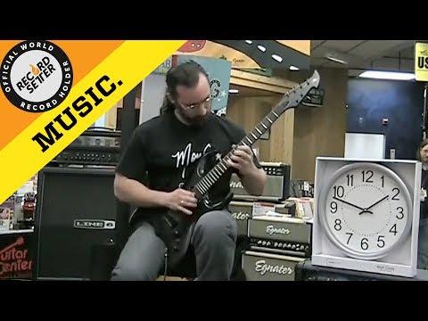 World Record: World's Fastest Guitar Player? (600 BPM) | RecordSetter.com