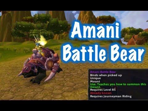 War Bear Mount Amani Battle Bear Mount Guide