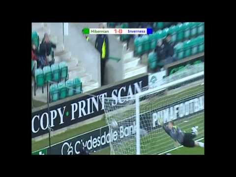 Hibernian v Inverness Goals.avi