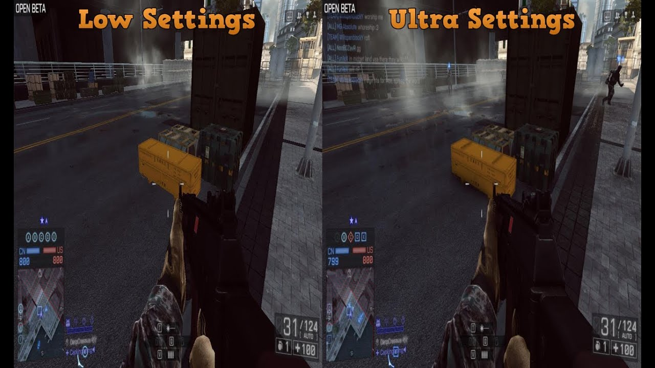Bf4 Ultra Graphics Bf4 Low Settings And Ultra
