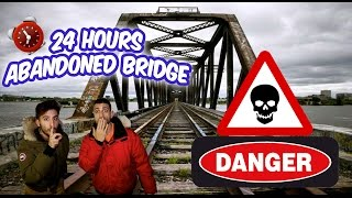 24 HOUR OVERNIGHT in ABANDONED HAUNTED BRIDGE FORT ⏰ | SCARY OVERNIGHT CHALLENGE in ABANDONED BRIDGE