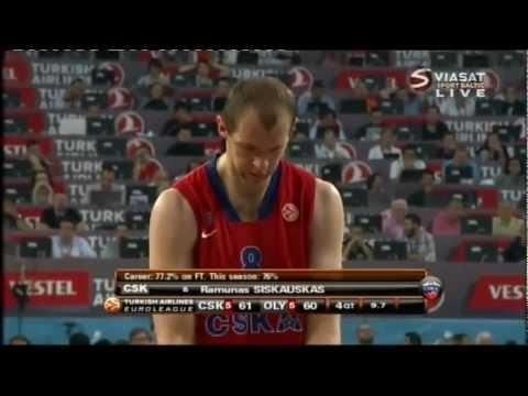 CSKA vs Olympiakos 2012 Euroleague Final last seconds