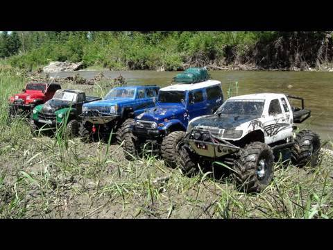 RC ADVENTURES - SCALE RC TRUCKS #20 - MUDDING! GROUP 4X4 ACTION!