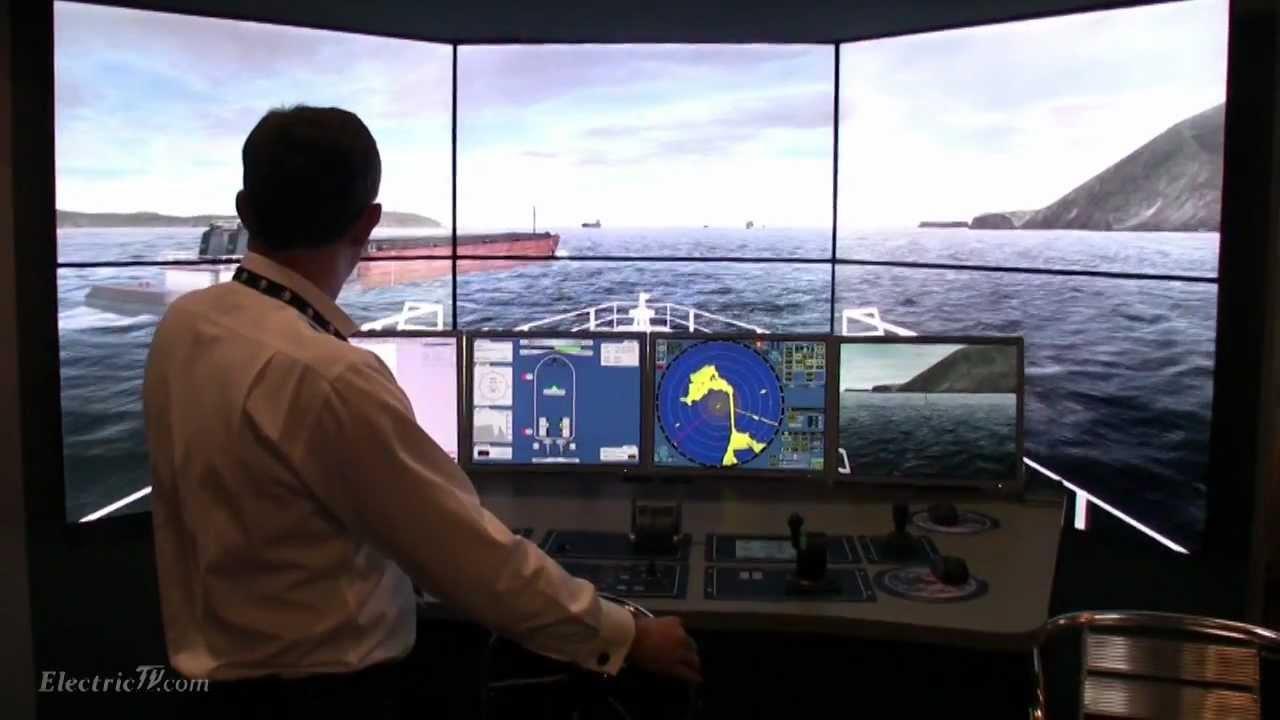 Virtual Reality Ships Bridge Training Simulator Demo By