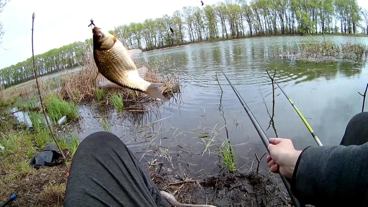 ловля на озере или