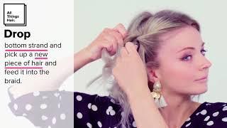 How to Waterfall Braid Hair Tutorial