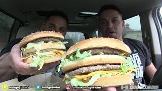 Eating McDonald's Grand Mac  @hodgetwins