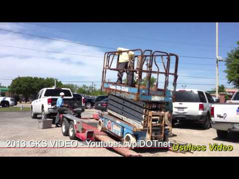 Useless Video Hi Lift Scissor Lift Loading on U-Haul Trailer. (01:28)