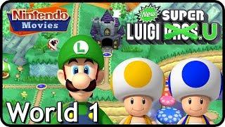 New Super Luigi U - World 1 - Acorn Plains (3 Players, 100% Walkthrough)