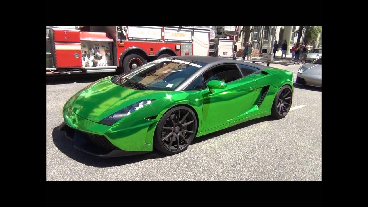Stunning Chrome Green Lamborghini Gallardo Pennsilvania
