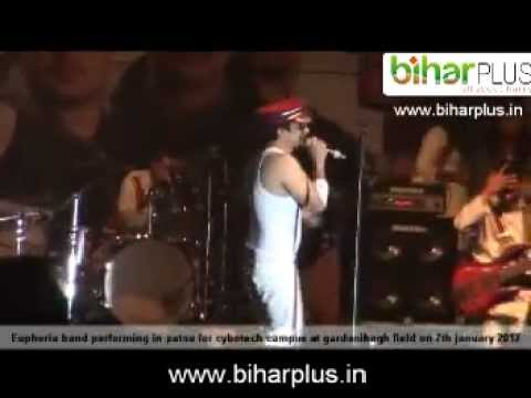 euphoria band performing in patna for cybotech campus at gardanibagh field on 7th january 2012.mpg