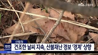 산림당국, 산불 예방 각별한 주의 당부
