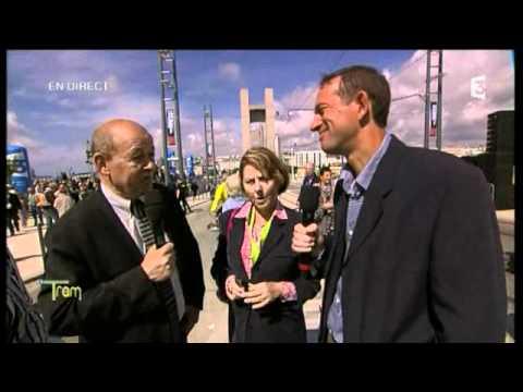 Jean-Yves Le Drian à l'inauguration du tramway de Brest