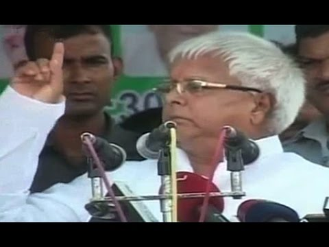 Lalu Prasad Yadav speaking live from Bihar Hajipur rally