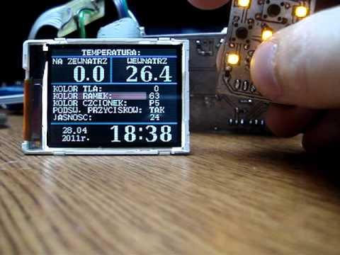 Uniwersalny komputer pokładowy (V:alfa 3) - LCD S65. ATMega88 Ver:2