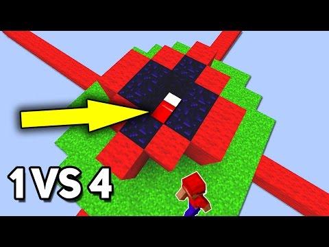 ОСТАЛСЯ 1 ПРОТИВ 4! СКРЫТАЯ ЗАЩИТА КРОВАТИ НА БЕД ВАРСЕ! - (Minecraft Bed Wars)