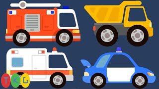 Xe Cứu Hỏa, Xe Cảnh Sát, Xe Cứu Thương, Xe Tải - Fire Truck - Police Car | TopKidsGames (TKG) 374