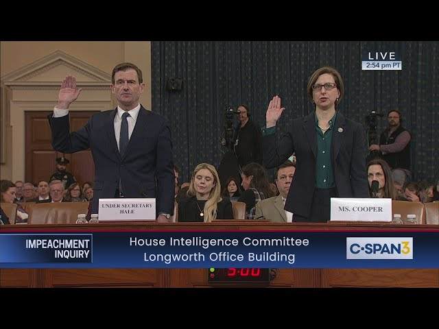House Impeachment Inquiry Hearing - Cooper & Hale Testimony thumbnail