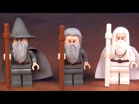 LEGO Gandalf Minifigure Comparison LOTR Hobbit Review