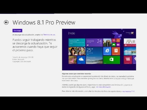 Windows 8.1 Preview ya esta disponible instruciones para su descarga y primer contacto