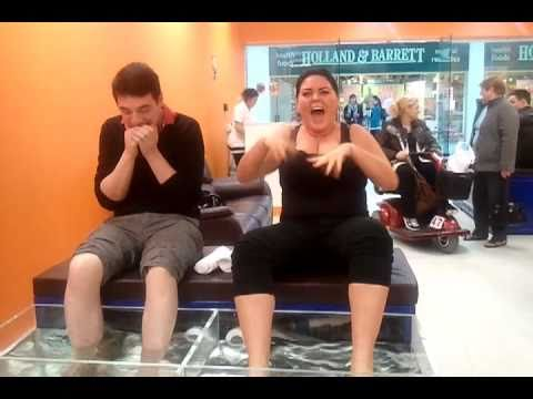 Funniest Fish Pedicure Video... Priceless!