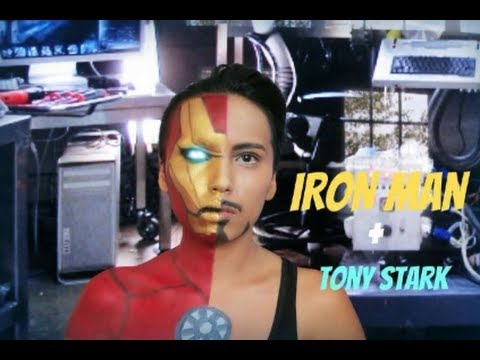 Iron Man + Tony Stark Transformation ( Halloween 2013)