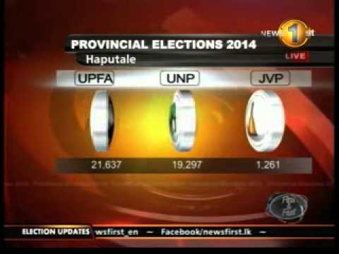 HAPUTALE - Badulla District - Election Results 2014