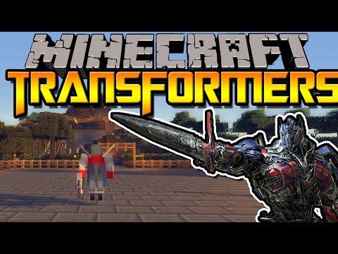 TRANSFORMERS IN MINECRAFT   Transformers Mod   Minecraft Mod Review [DEUTSCH]