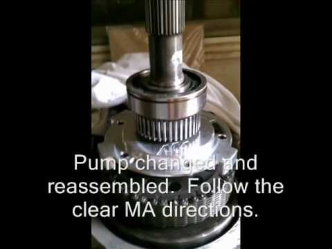 NP246 transfer case repair with pump upgrade (RPO