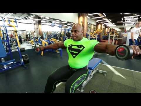 Мастер-класс Toney Freeman.Тренировка дельтовидных мышц.