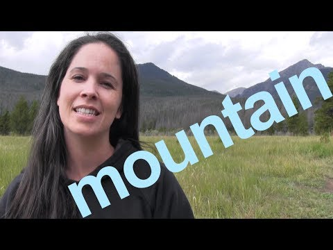 How to Say MOUNTAIN and SENTENCE – American English