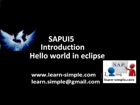 SAPUI5 Hello world in eclipse