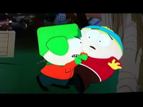 Eric Cartman crying because Kyle strangles him South Park