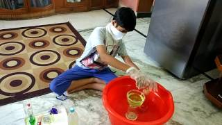 Hydrogen gas preparation in household chemicals