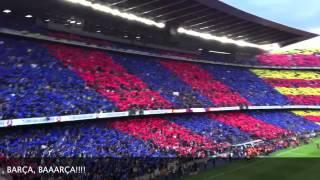 Mosaic and Himne 21.April 2012 Barça-Madrid Camp Nou