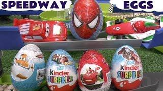 Disney Pixar Cars Surprise Eggs Stunt Race Cars Kinder Transformers Hot Wheels Planes Surprise Toys