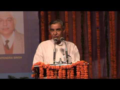 Hon'ble MR Shri Pawan Kumar Bansal speaking on the problems of the promotee officers