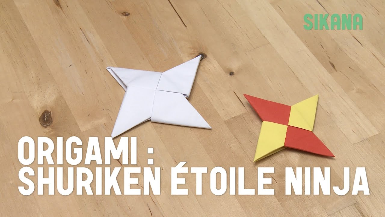 Origami faire une toile ninja shuriken en papier hd youtube - Comment faire origami ...