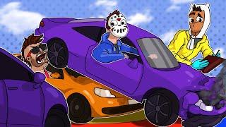 GTA 5 Funny Moments - 4v4 HILARIOUS CAR DARTS!!