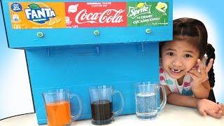 Trò Chơi Máy Bán Nước Tự Động Bé Bún - Coca Cola Fanta Sprite Fountain Machine at Home
