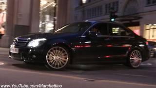 Mercedes C63 AMG Powersliding!