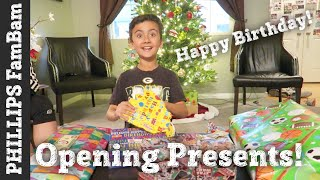 ELIJAH'S 9th BIRTHDAY PARTY ( OPENING PRESENTS ) | PHILLIPS FamBam Vlogs