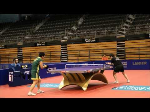 Oceania Table Tennis Olympic Qualification 2012 Li Chunli v. Jian Fang Lay Stage 1 Final (Partial)