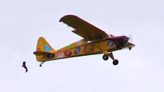 "Crazy Pilot Stunt Plane ""Crashes"" Melbourne Air Show - Jelly Belly Comedy Act"