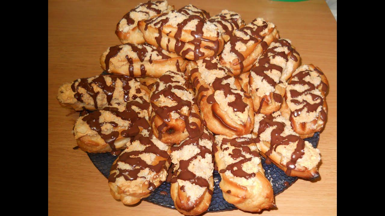 Заварные пирожные со сгущенкой рецепт с фото пошагово